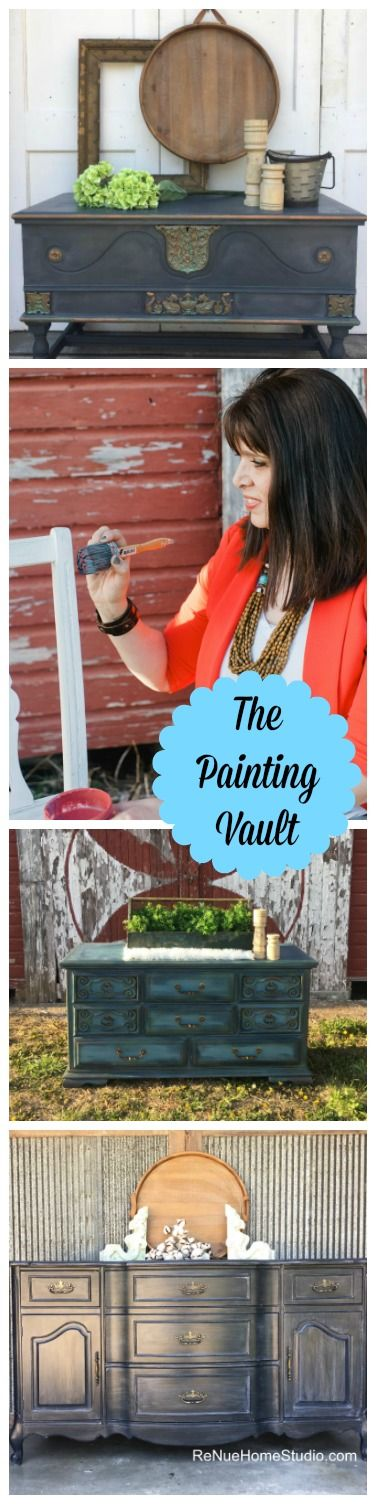 The Paint Vault is a private monthly group where you'll learn step-by-step how to do all the furniture finishes you've been dreaming about.  Small business Furniture Paint Painter Painters Flip Repurpose Chalk Faux Flip