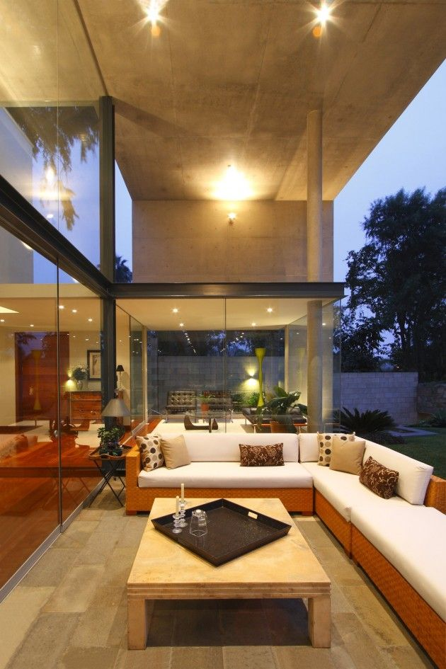 terraza doble altura