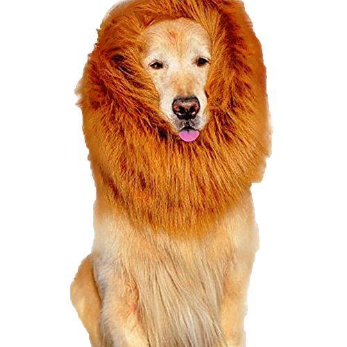 brown lion mane costume and big dog lion mane wigs pet fancy lion hair dog clothes