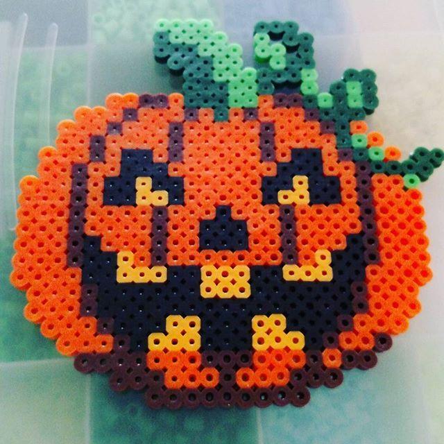 Pumpkin - Halloween perler beads by im_thelibrarian