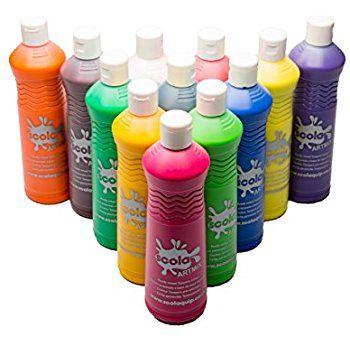 Artina Crylic 10 X 120ml Acrylfarben Set 10 Farben 1200ml