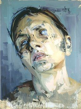 JENNY SAVILLE  Rosetta 2, 2005–06  //  Oil on watercolor paper, mounted on board  99 1/4 x 73 3/4 inches (252 x 187.5 cm)Artists, Artpainting, Modern Art, Paper, Jenny Savile, Jenny Saville, Portraits, Art Painting, Oil