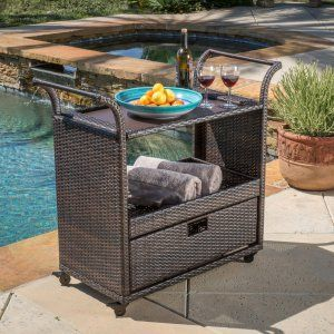Outdoor Serving Carts on Hayneedle - Outdoor Beverage Cart