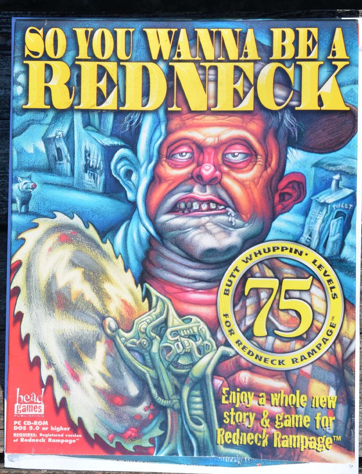 Redneck Rampage So you Wanna be a Redneck US Big Box NEW! 3D Realms PC   Brand new rare sealed boxed game