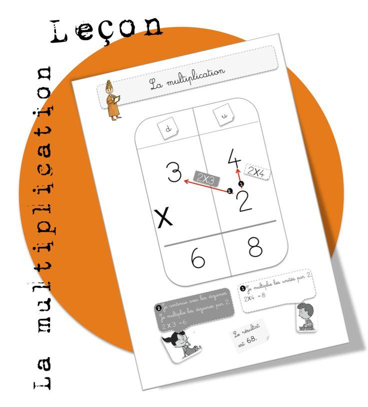 CE1 : Maths : Leçon. La multiplication