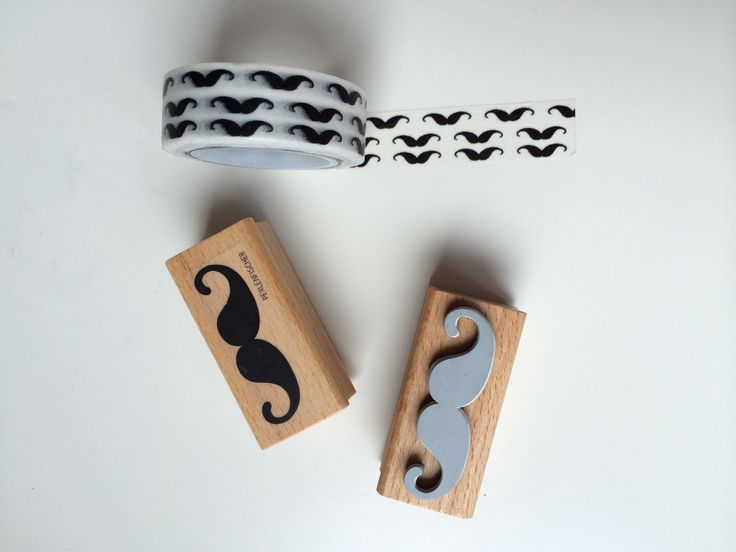 Sello y Washi moustache