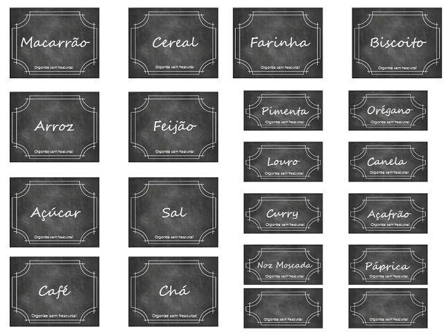 Organize sem frescuras!: Etiquetas para ajudar na organização