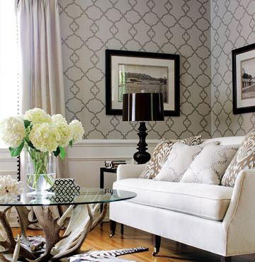 42 Best Wallpaper Images On Pinterest  Wall Papers Wallpaper And Delectable Wallpaper Living Room Ideas For Decorating Inspiration