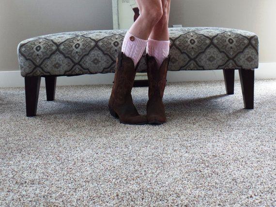 Pink Womens Knit Boot Cuffs Women's  Boot cuffs by uptowngirlco