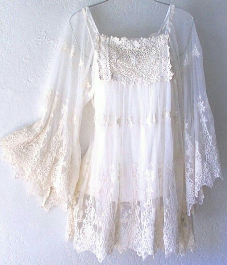 I love this white lacy top.