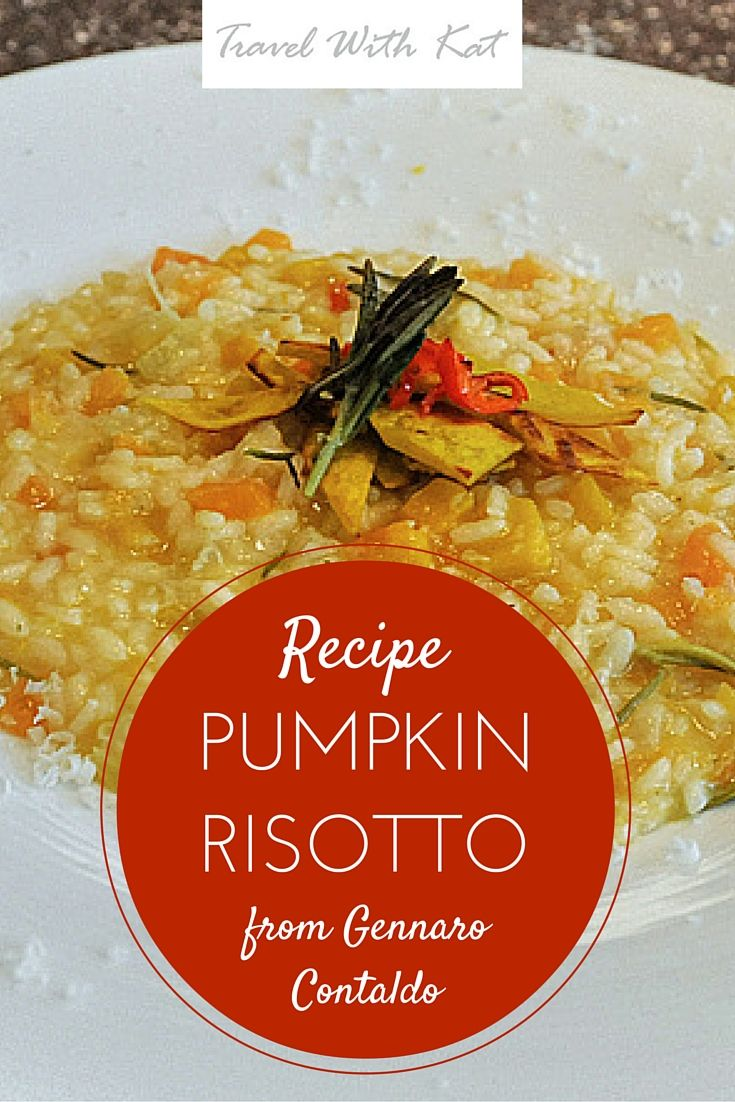 One of my favourite cuisines to both cook and eat has to be Italian and I'll take any chance I can get to learn from the experts. I recently picked up some great tips for cooking the perfect risotto from celebrity chef Gennaro Contaldo, as well as a quick and easy recipe for pumpkin risotto, the perfect dish for Autumn.