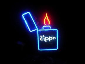"ZIPPO BEER BAR CLUB NEON LIGHT SIGN (15"" X 13"") - Free Shipping Worldwide - Lee Neon Signs Online Store - Free Shipping Worldwide"