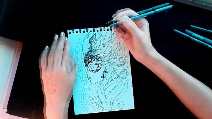 Drawing Brazilian Carnival girl! Зенарт бразильский карнавал.