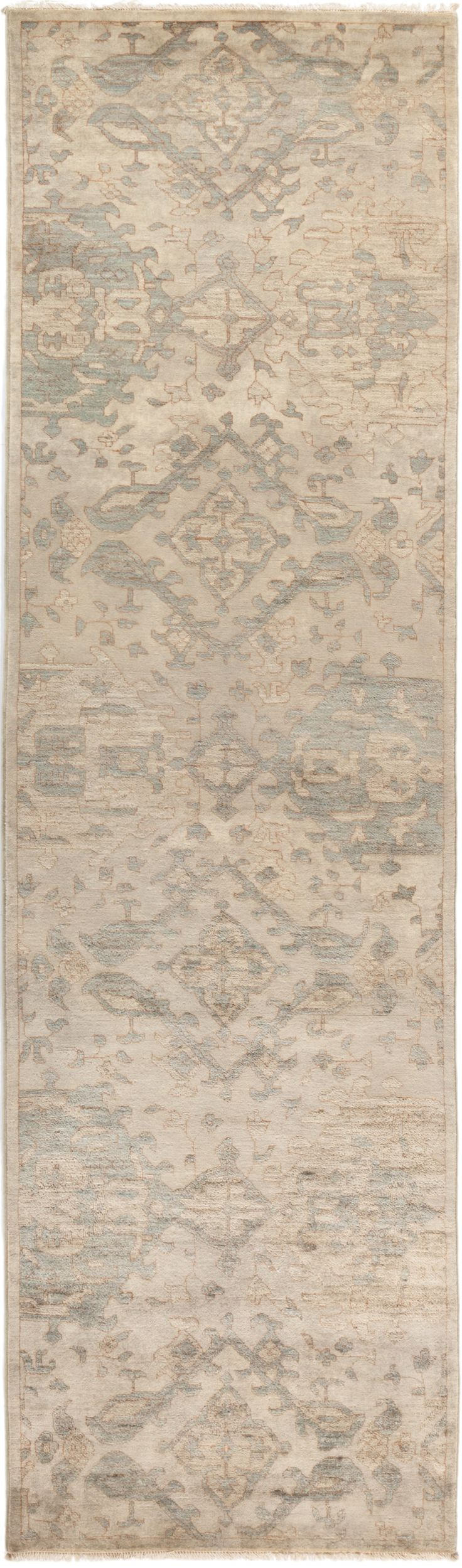 """Jacklynne One of a Kind Rug 3'1"""" x 10'10"""", Beige - Hand Knotted - Rugs"""