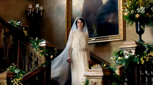 Mary's wedding dress - Downton Abbey, Series 3Downtonabbey