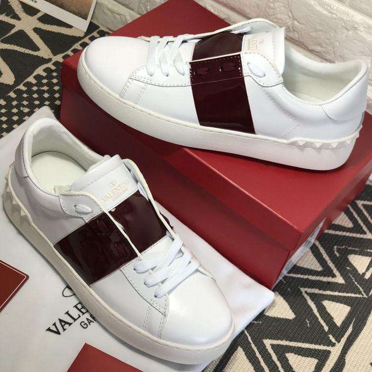 Valentino unisex woman man white sneakers