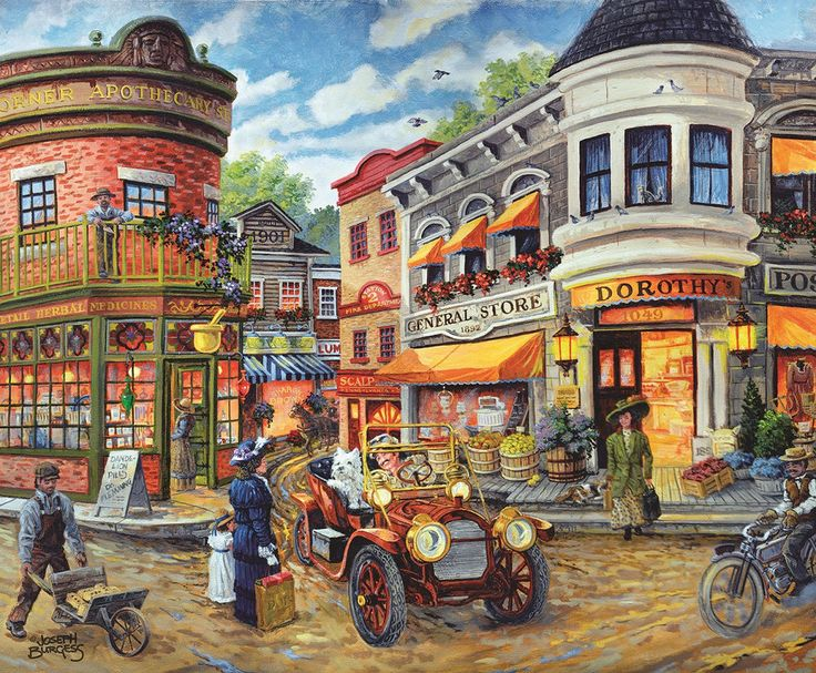 Dorothy's Busy Intersection 1000 Piece Jigsaw Puzzle SunsOut USA Joseph Burgess #SunsOut #Puzzle