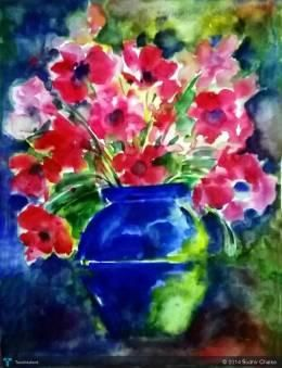 """""""Flower Pot"""" #Creative #Art in #painting @Touchtalent"""