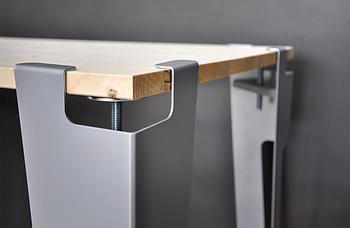 """Fabriquer sa table Design avec le pied de table modulable de """"Avec Ceci"""". Plus d'infos sur mon Blog"""