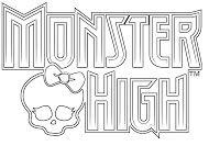 Dibujos para Colorear, Pintar , imprimir.....: monster high logo