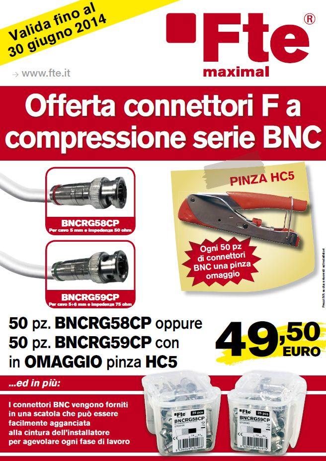 Connettori a compressione serie BNC. Connessione professionale