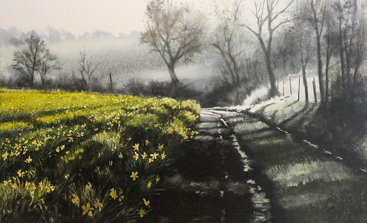 watercolor LANDSCAPES - NAOMI TYDEMAN RI