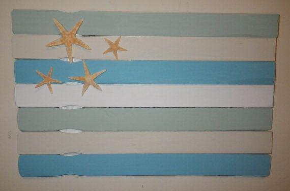 Paint Stick Beach Flag by CBEUsedBlues on Etsy
