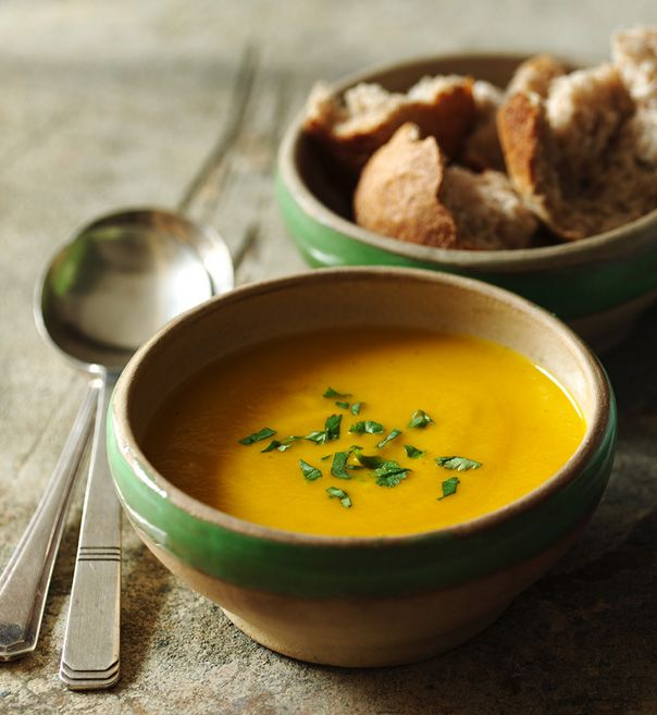 This lightly spiced carrot soup couldn't be any simpler to make, yet it makes a delicious supper on a cold winter's evening.