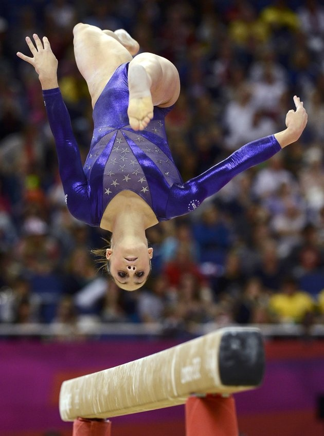 Jordyn Wieber of the U.S. competes in the balance beam during the women's gymnastics qualification in the North Greenwich Arena during the London 2012 Olympic Games July 29, 2012.