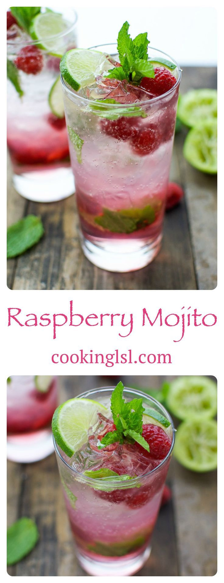 Recipe | Raspberry-Mojito-Cocktail | It's refreshing, and beautiful! Love it!