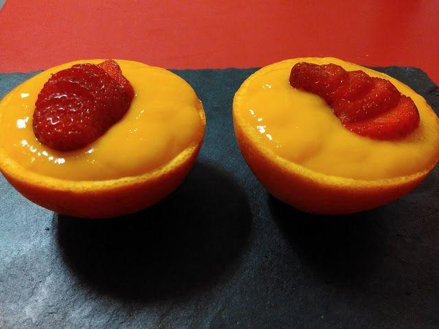 Dulce Diabetico: Crema de naranja
