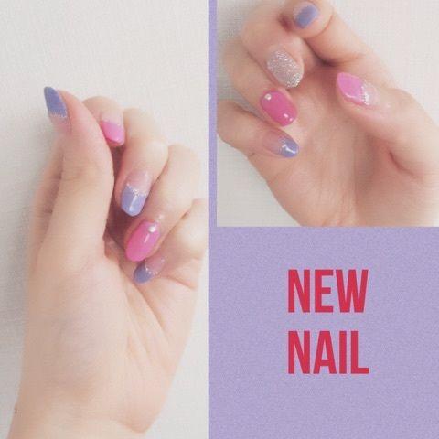 ラベンダーカラー #nail #ネイル #japanisegirl #anecan #anelady