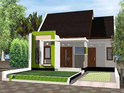 Model Desain Rumah Sederhana Minimalis Tampak Depan