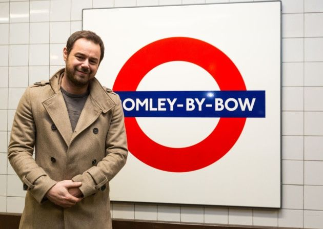 Self-confessed geezer and all-round rogue Danny Dyer is voicing the announcements at Bromley-by-Bow station today to mark EastEnders' 30th anniversary.