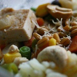 Вегетарианский рис с тофу