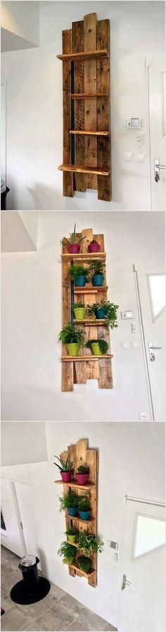 Pallet Planter Shelves