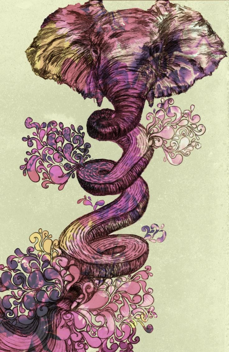 Elephant illustration | artspiration. | Pinterest ...