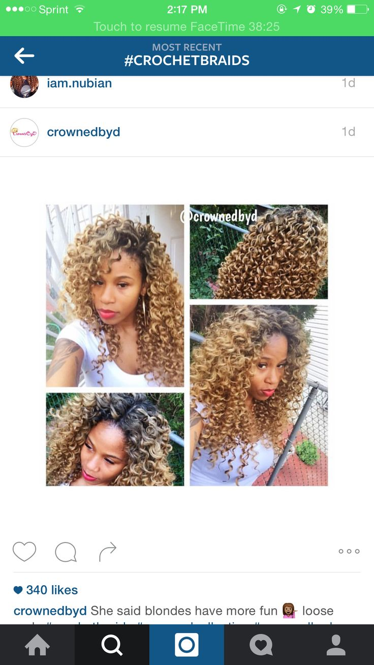 Curly Crochet braids with leave outs.. Perm rod curls.. Blonde