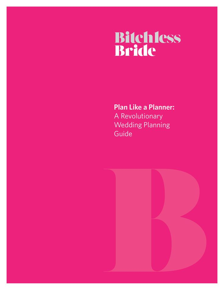 """Love the Bitchless Bride's """"Plan Like a Planner"""" wedding planning guide!"""