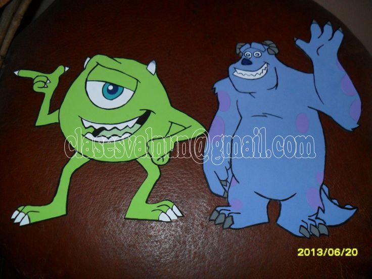 Monster Inc en foamy para Centros de Mesa