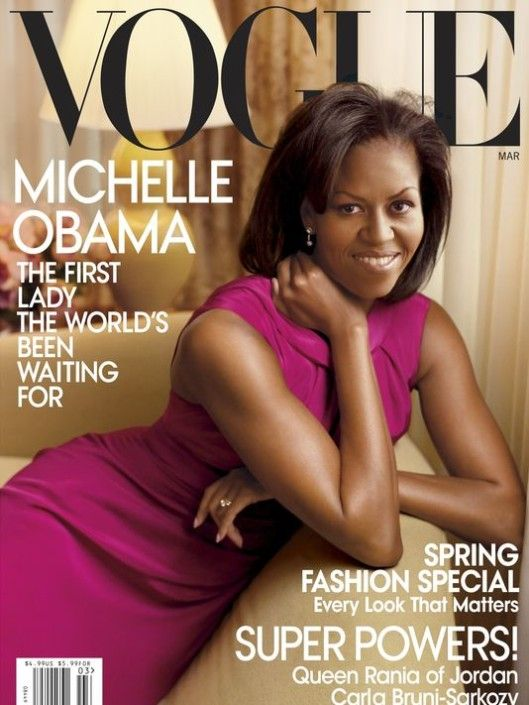 Michelle Obama on the cover of Vogue USA