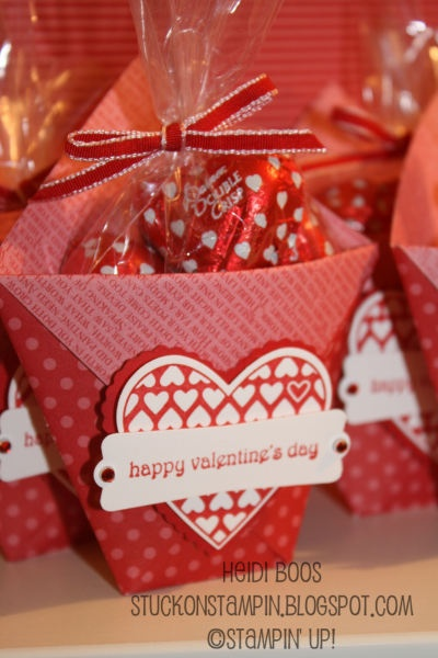 Stampin' Up! Treat Holder Heidi Boos Valentine Candy Pouch