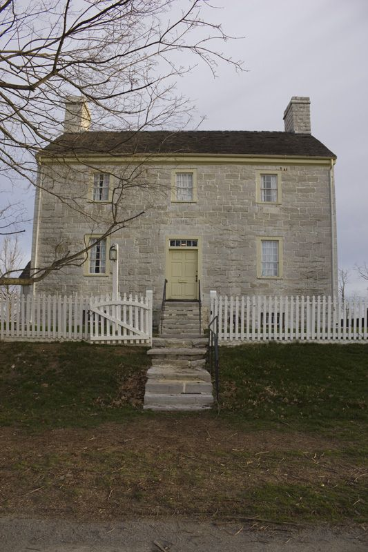 Shaker's White House, Pleasant Hill, Kentucky- I love the KY limestone they used to build this house.