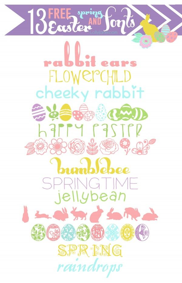 13 cute spring & Easter fonts.... all FREE! :)