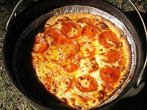 need a dutch oven...pizza yum!