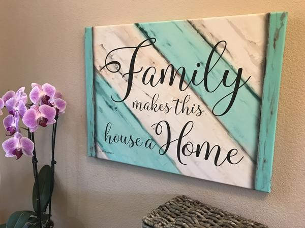 Family Makes This House A Home Canvas Wall Art Canvas Art Quotes Word Wall Art Canvas Painting Quotes