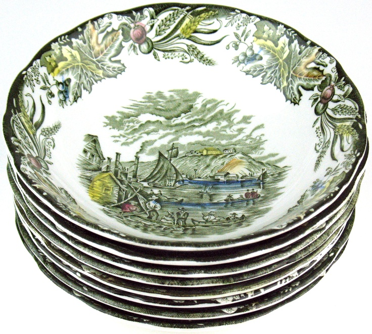 """Heritage pattern by Ridgway Pottery - Cereal or Soup bowl - 6"""" - Citadel of Kingston"""