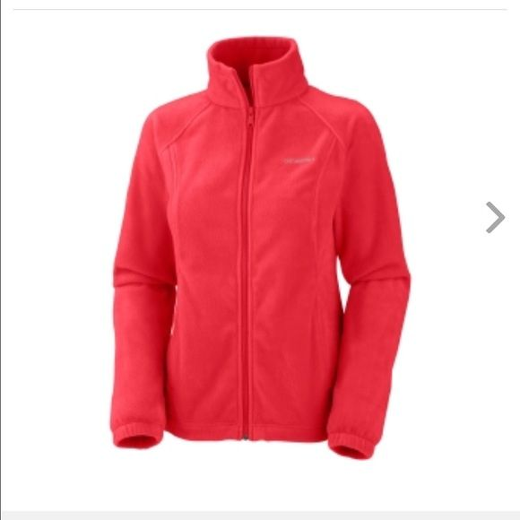 Columbia fleece jacket-red