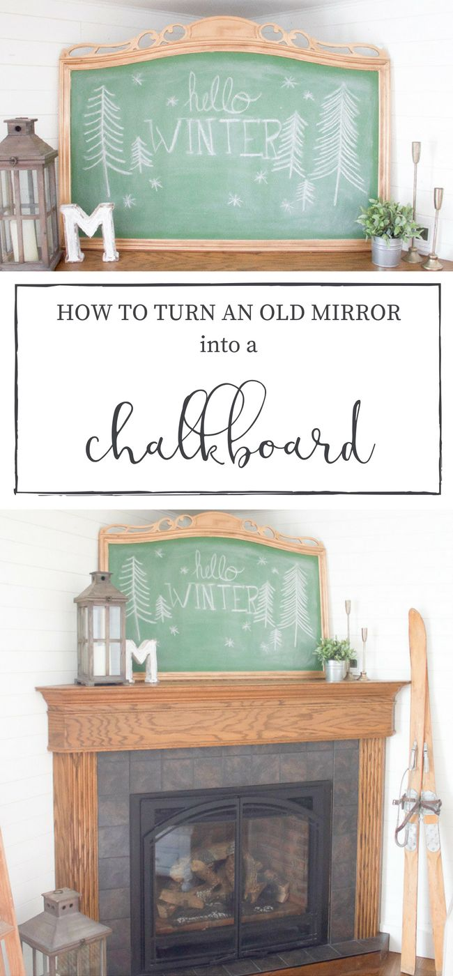 How to Turn an Old Mirror into a Chalkboard