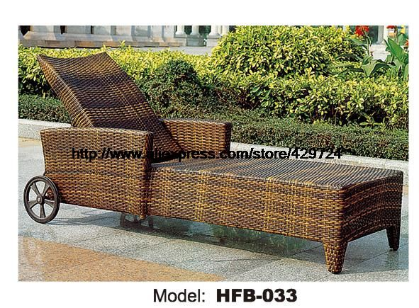 Outdoor Lounger Modern Rattan Lying Chair Swing Pool Graden Beach Sun Lounger Lying Sofa Bed Rattan Chaise Longue Chair HFB032